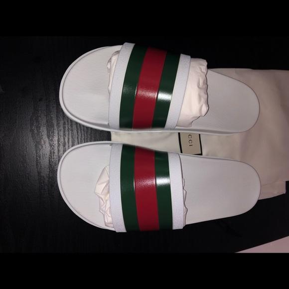 84548e4f42b6 Gucci web slide sandal